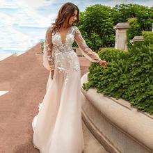Eightree 2021 цветок аппликация вечернее платье точка тюль рукав