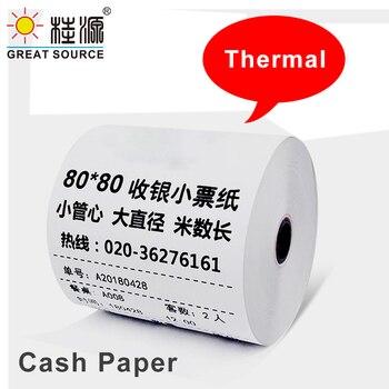 Thermal Paper Rolls 80*80mm Printer Paper Cash Register Rolls for Supermarket POS Receipt Paper Printing 16 Rolls