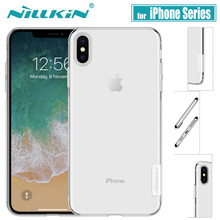 for iPhone X XS XI Max XR XIR Case Nillkin Clear Soft Silico