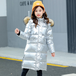 Silver Girl Boys Down Jacket for Girls Coat Clothes Brand Winter High Qulity Hooded Outwear Warm Toddler Kids Windproof Clothing