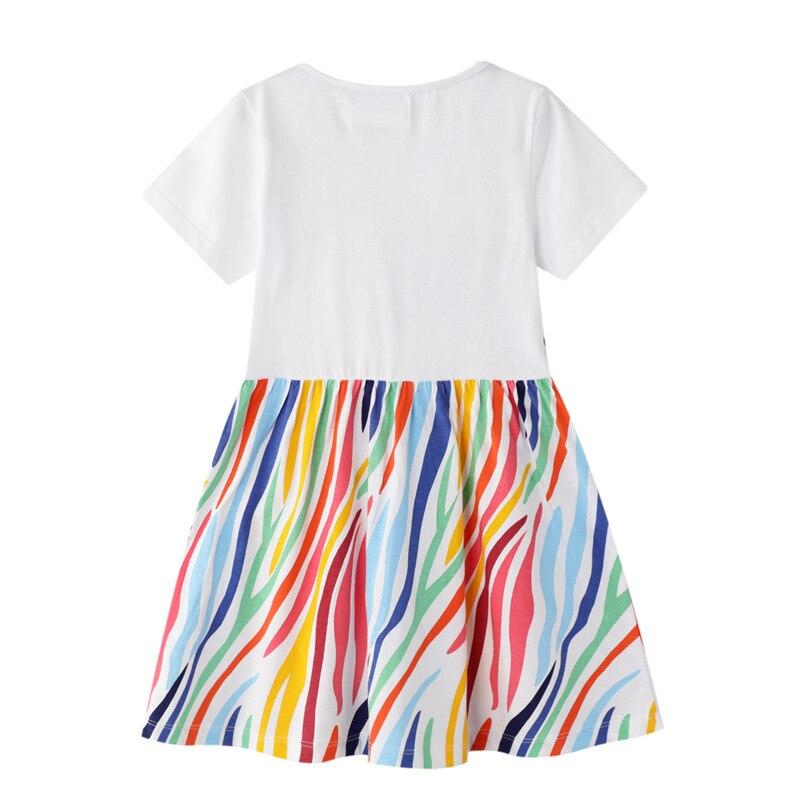 SAILEROAD Dress 2021 Summer Girls Tops Dresses Animal Baby Girls Clothes Dress Kids Cotton Zebra Print Short Sleeve Dress 2