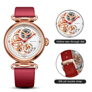 Image 3 - Seagull mechanical watch women fashion watch Leather strap Waterproof automatic watch Full hollow mechanical watch 811.11.6002L