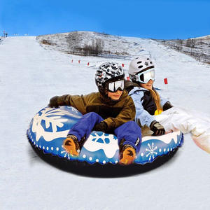 Ski-Circle Inflatable Snow-Tubes Skiing-Board Winter with Handle Durable Children Adult