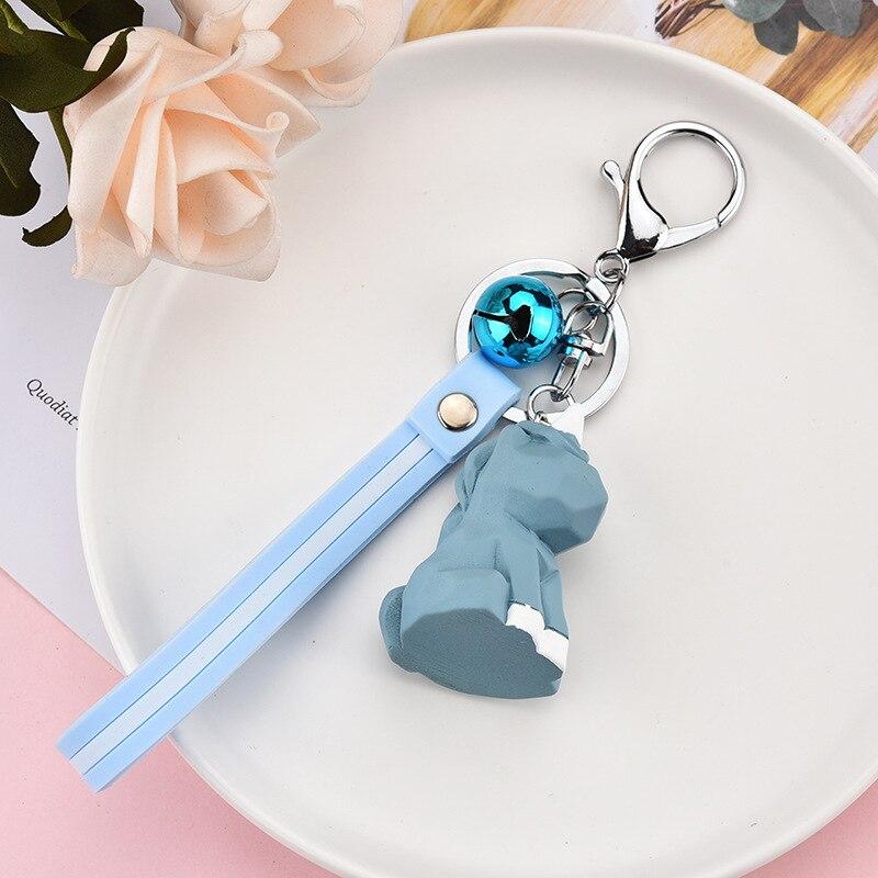 Cartoon Cute Dinosaur Rabbit fox Key chain Panda Cat doll Key Chains Creative Geometric Cut Animal Key Ring for Women Charm in Key Chains from Jewelry Accessories