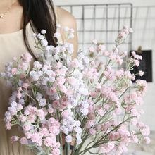 Flocking Gypsophila INS Style Simulation Flower Factory Home Decoration Wedding Bouquet Flower Plant Wall Artificial Flower simulation plastic rod artificial flowers bouquet home wedding indoor decoration plant photography plant wall props