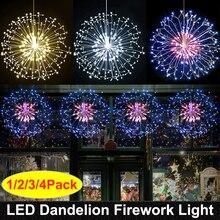 Feux dartifice RC LED chaîne lumières fil de cuivre étanche fée lumière suspendue Starburst scintillant lumière pissenlit pour Christma maison D23