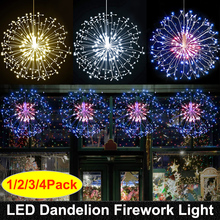 RC Firework LED String Lights Waterproof Copper Wire Fairy Light Hanging Starburst Twinkle Light Dandelion For Christma Home D23