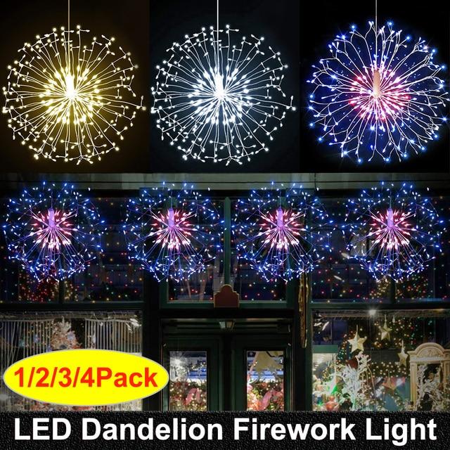 RC זיקוקי LED מחרוזת אורות עמיד למים נחושת חוט פיות אור תליית Starburst נצנץ אור שן הארי עבור Christma בית D23