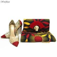 Женские туфли на высоком каблуке WENZHAN, туфли из ткани с принтом из натурального воска в Анкаре, 6 размеров, модная дамская сумочка, 911 29
