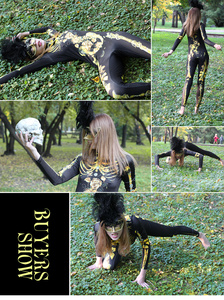 Image 5 - NADANBAO Scary Purim Karneval Cosplay Kostüm Gold Skeleton Body Frauen Halloween Kristall Skeleton Elastische Catsuits