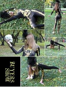 Image 5 - Женский карнавальный костюм NADANBAO, эластичный костюм скелета на Хэллоуин с кристаллами
