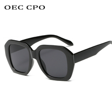 OEC CPO Oversize Women Square Sunglasses 2019 New Fashion Vintage Sun Glasses Gradient Black Pink UV400 Gafas O59