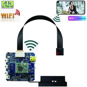 Wifi sem fio mini câmera 4 k ultra hd babá cam pequeno detector de movimento dv p2p módulo visão noturna controle remoto câmera ip 2020