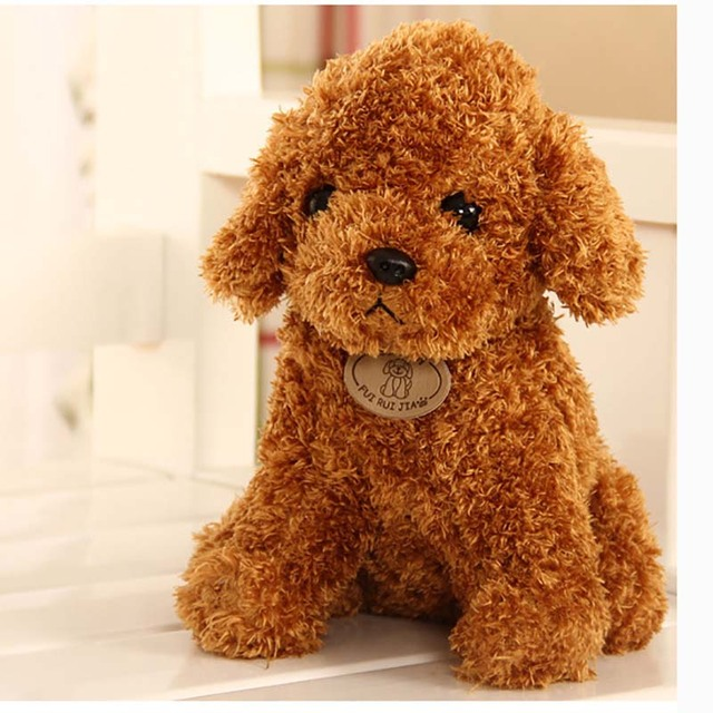 25 cm Simulation Teddy Dog Poodle for Toys Animal Cute  Gift  Doll Plush  stuffed animals  toys for girls