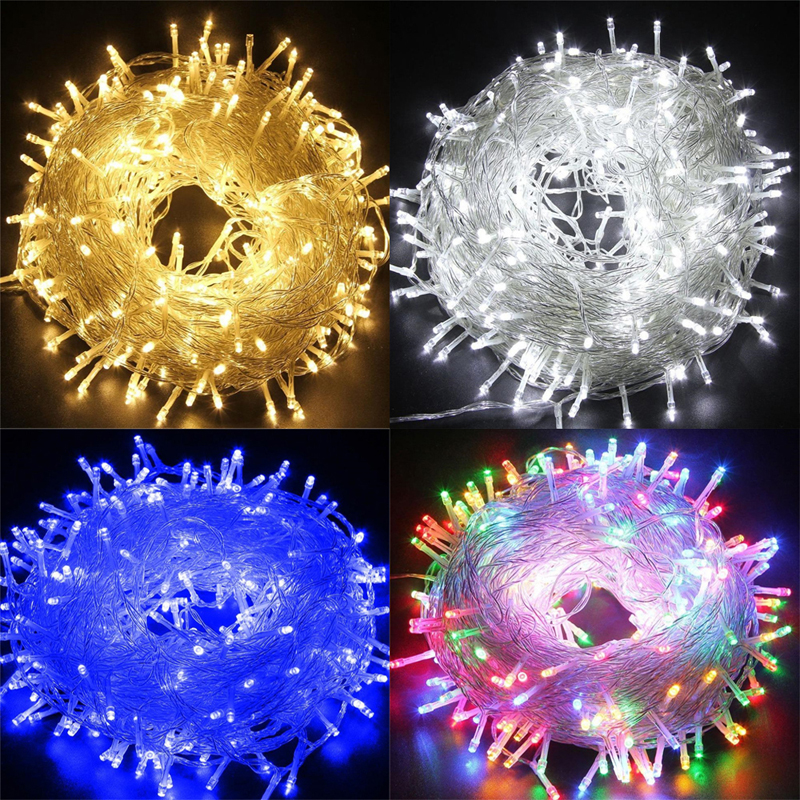 Christmas Decor LED String Lights Garland Fairy Lights 100M Outdoor Christmas Light For Holiday Wedding Luces Decoration EU 220V