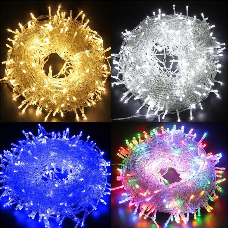 Christmas Decor LED String Lights Garland Fairy Lights 100M Outdoor Christmas Light For Holiday Wedding Luces Decoration EU 220V