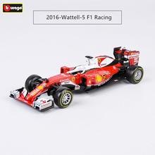 Burago 1:43 Ferrari 2016 SF16-H  5 7 Alloy F1 car model die-casting simulation decoration collection gift toy