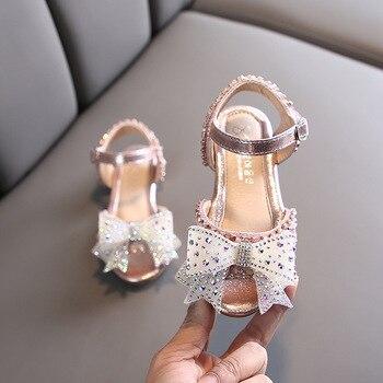 3-12 years old children summer color fashion bow sandals 2020 new little girl princess skirt rhinestone children beach sandals