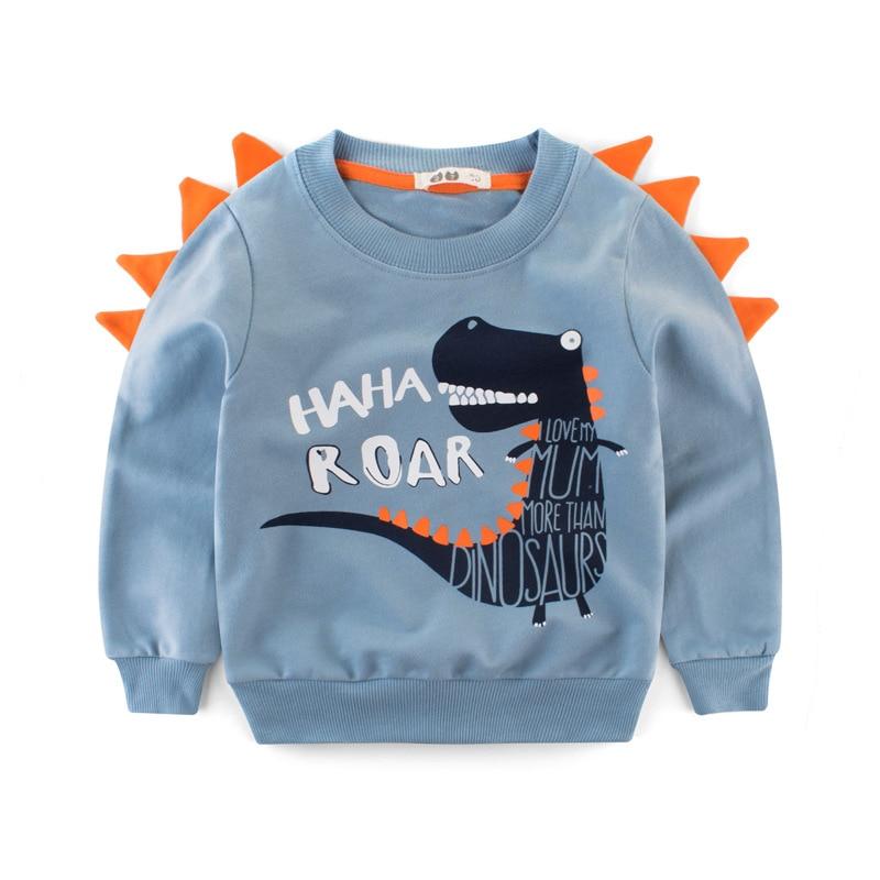 Boys Hoodies Kids Sweatshirt Toddler Girls Children Cotton Dinosaur Crocodile Cartoon Baby Tops Sweatshirts Winter Clothes  Full 3