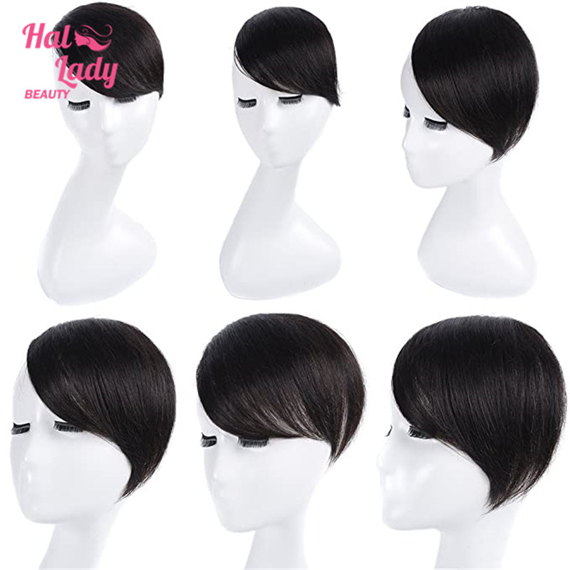 Halo Lady Beauty Clip In Hair Bangs Fringe Hair Extensions Full Sweeping Side Hairpiece Hair Piece Brazilian Non Remy Human Hair Big Discount 48eb Cicig