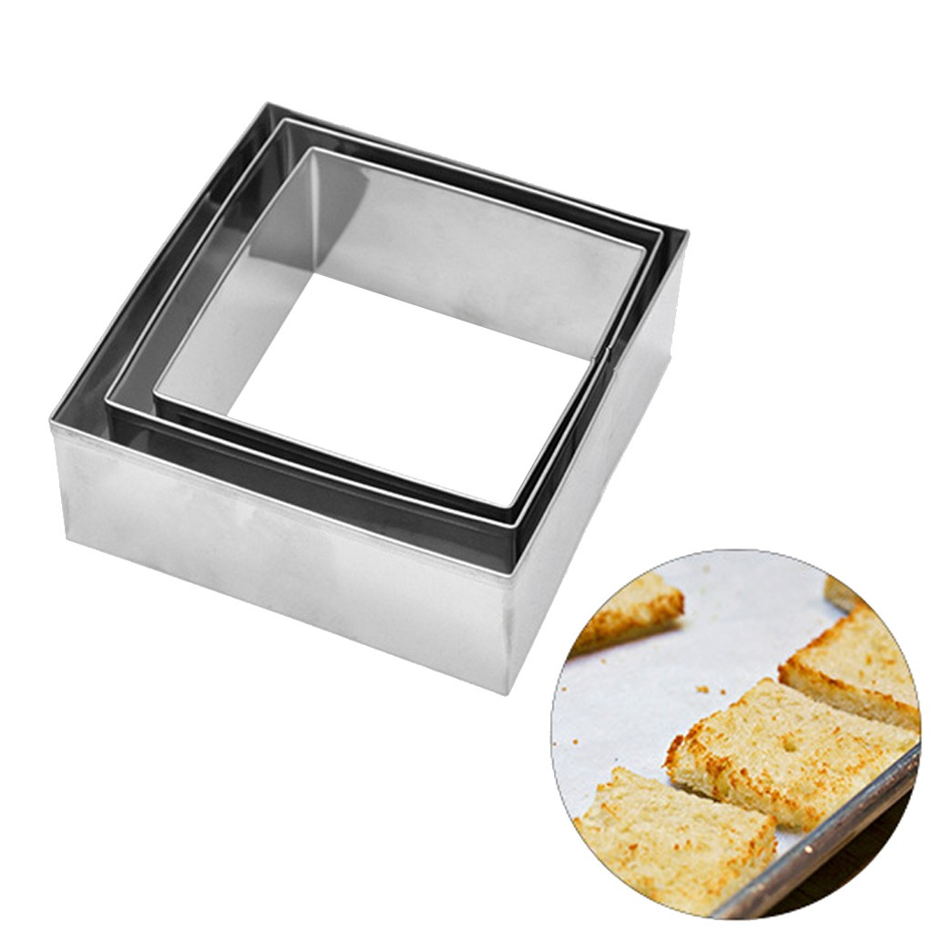 2019 High Quality Square-shaped Cake Dumpling Cookie Cutter Mold DIY Baking Dessert Tool 3Pcs Support Wholesale Dropshipping