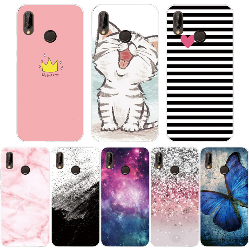 <font><b>Case</b></font> For <font><b>Huawei</b></font> <font><b>Y9</b></font> <font><b>2019</b></font> <font><b>Cover</b></font> Transparent Cartoon Soft TPU Silicon Phone <font><b>Case</b></font> For <font><b>Huawei</b></font> <font><b>Y9</b></font> <font><b>2019</b></font> Back <font><b>Cover</b></font> Fundas image