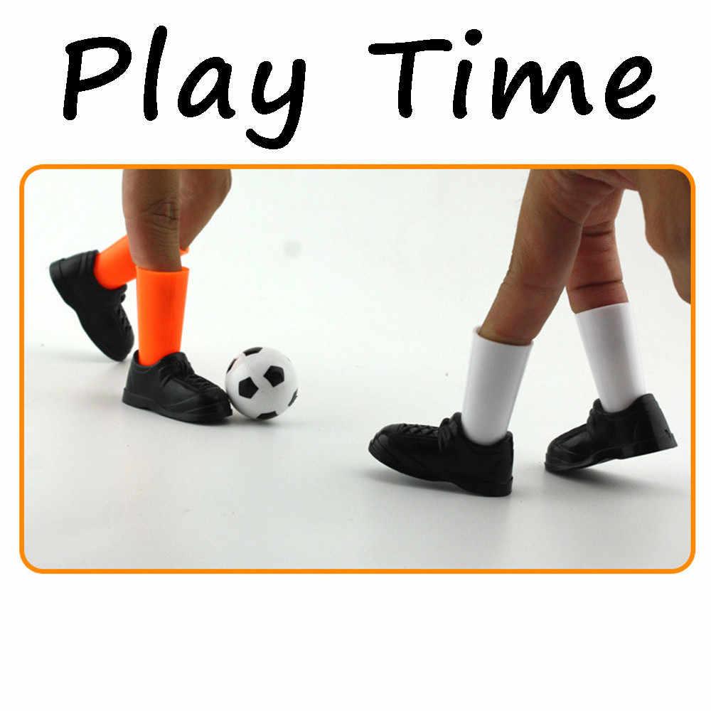 理想的なパーティー指サッカーの試合のおもちゃおかしいフィンガーおもちゃゲームセット 2 目標楽しいおかしいガジェットノベルティおかしいおもちゃ子供のための