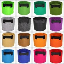 1/2/3/5/7/10/12/15/17/20 Gallon Tuin Groeien zakken Bloem Groente Beluchting Planten Pot Container Planter Pouch Met Handvatten