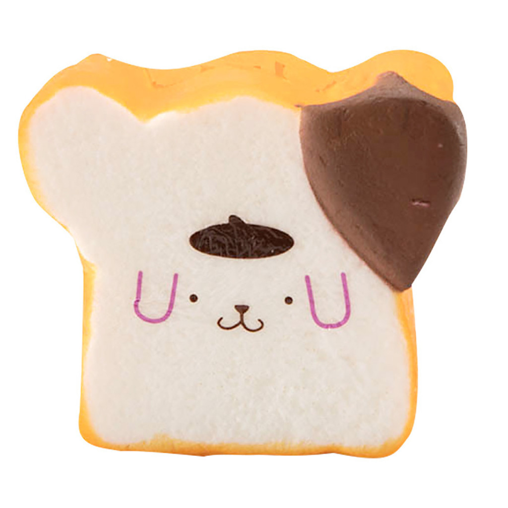Adorable Simulated Toast Bread Slow Rising Kids Toy Stress Reliever Toy Cartoon Dog Finger Rehabilitation Training #A