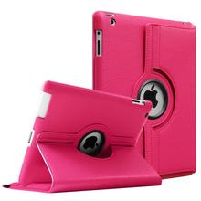 "Funda Capa for iPad 2 3 4 A1395 A1396 A1416 A1430 A1458 A1460 9.7"" inch Tablet Cover Case_Smart Wake-Sleep&360-Rotating(China)"