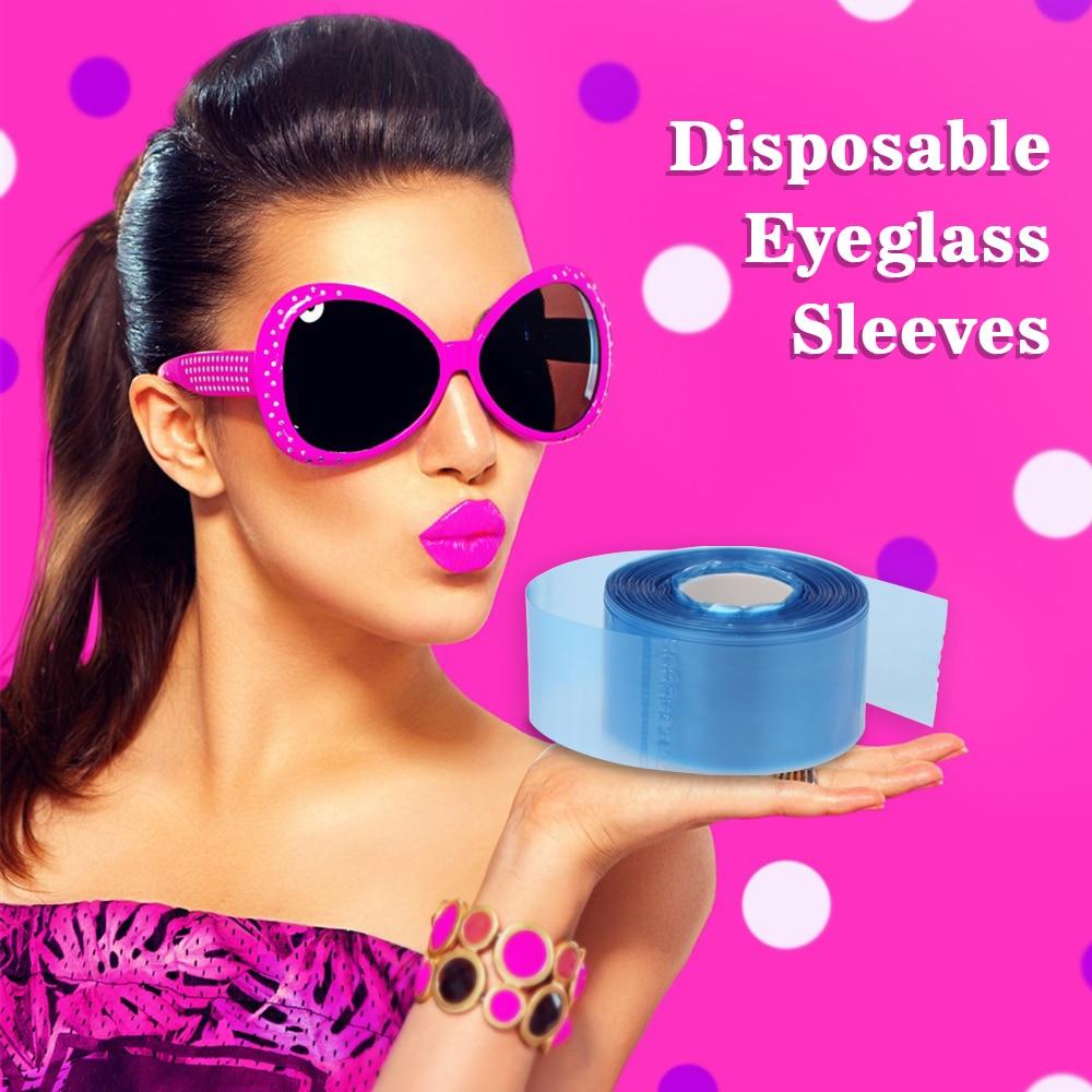 1 Roll 200 Pcs Disposable Glasses Leg Sleeves Tape Protective Eyeglass Leg Cover Eyeglasses Protector