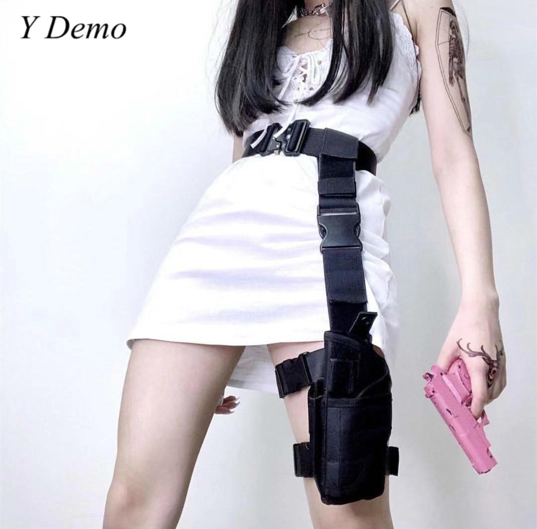 Harajuku Cool Women Leg Bag And Belt Adjustable Waist Accessory