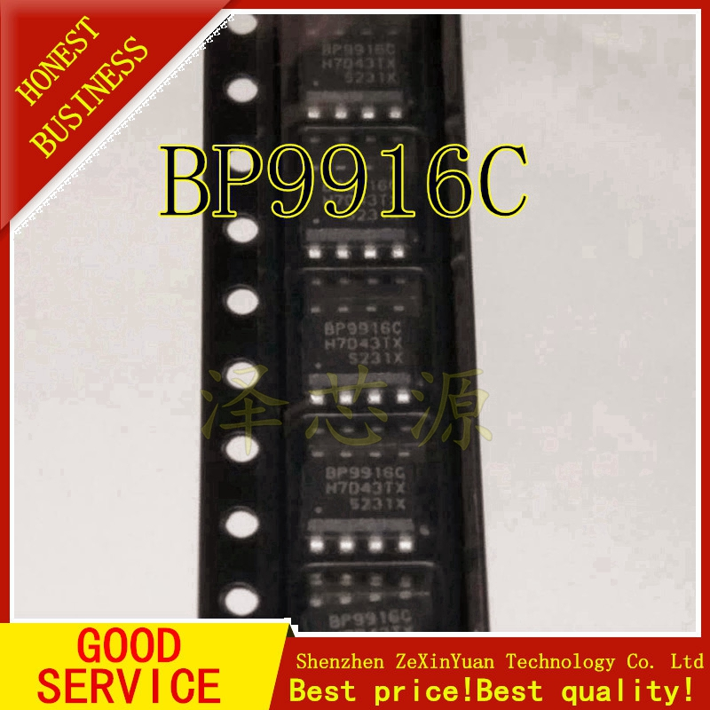 5PCS/LOT BP9916C BP9916 9916C SOP-8 LED Constant Current Drive Chip Short Circuit Protection Overheat Regulation
