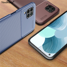 For Huawei P40 Lite Case Carbon Fundas Rubber Silicone Protective Phone Case For Huawei Nova 6 SE Case For Huawei P40 Lite Cover for fundas huawei p40 lite case cover smooth skin thin pc matte phone case for huawei p40 lite case coque funda huawei nova 6 se