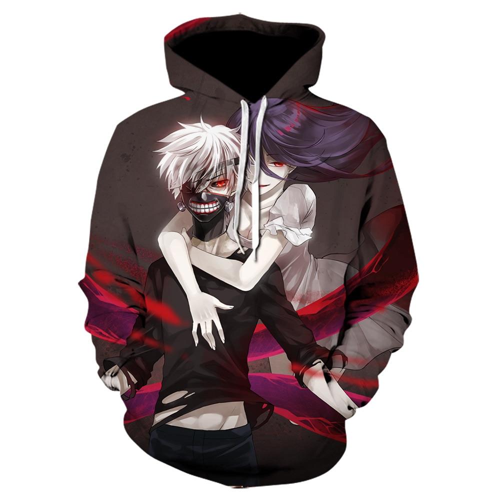 2021 new Tokyo Ghoul 3D men Hoodie Sweatshirts Men/women Anime Kaneki Ken Print Hoodies streetwear long sleeves pullover jacket