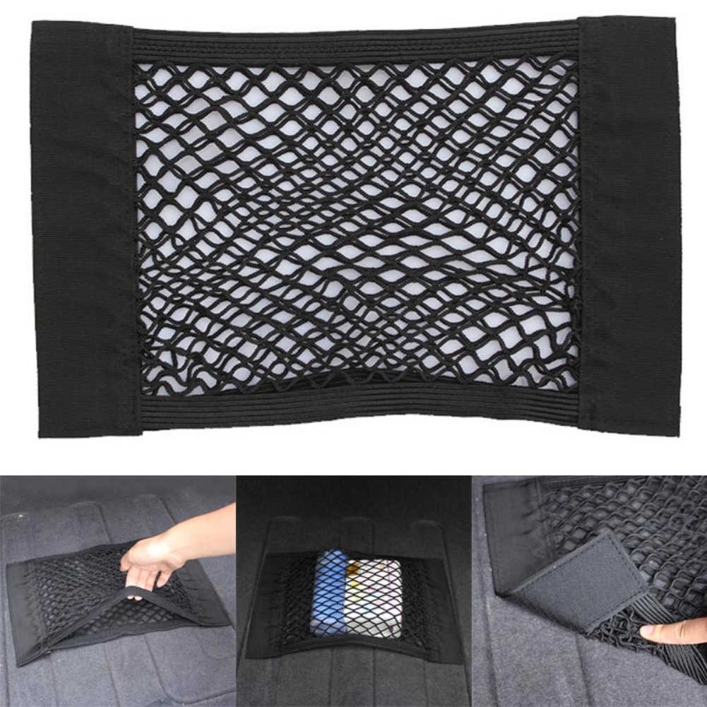 Caja de almacenamiento para maletero de coche bolsa de malla bolsa de red de equipaje de estilo de coche pegatina de bolsillo organizador de maletero 35*25CM /40*25 CM/50*25 CM