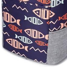 Изолированная сумка для ланча Термосумка с принтом коробка пищевых