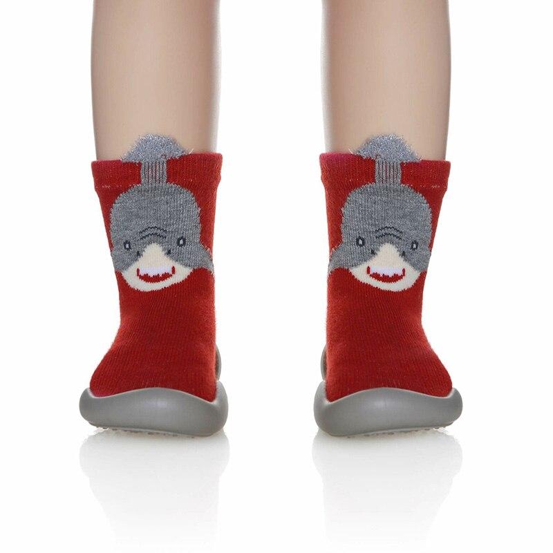 Pantoufles antidérapantes en coton | Pour filles et garçons tout-petit, chaussettes chaudes pour hiver maison M09