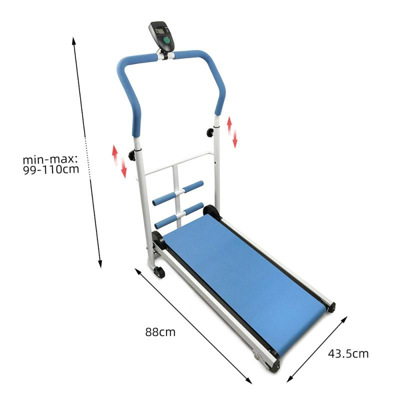 Permalink to Newest folding mechanical treadmill portable home fitness treadmill multi-function silent fitness equipment treadmill with belt