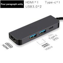 Thunderbolt 2 Thunderbolt 3 4 в 1 USB-C HDMI адаптер 2x USB3.0 type-C PD концентратор для huawei P20 Pro samsung Dex Galaxy S9/S8