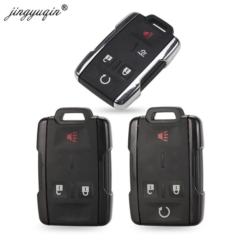 jingyuqin Keyless Entry Case for GMC Yukon XL fit Chevrolet Tahoe Suburban Sierra Silverado Remote Smart Key FOB Shell Housing|Car Key| |  - title=