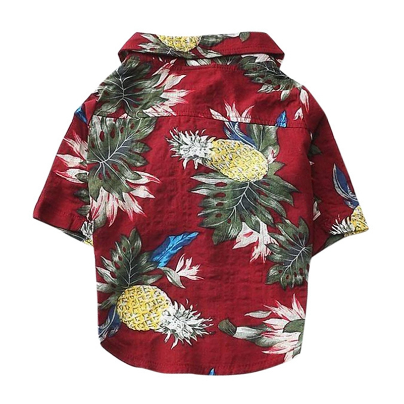 Summer Pet Printed Clothes For Dogs Floral Beach Shirt Jackets Dog Coat Puppy Costume Cat Spring Clothing Pets Outfits