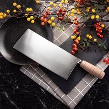 SHUOJI couteaux de cuisine en acier inoxydable, couteau chinois 4Cr14, lame tranchante à haute ténacité, coupeur avec manche en bois
