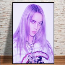 Home Decoration Wall Art Nordic Female Singer Billie Eilish Canvas Painting Hd Prints Modern Poster for Bedroom Modular Picture недорого