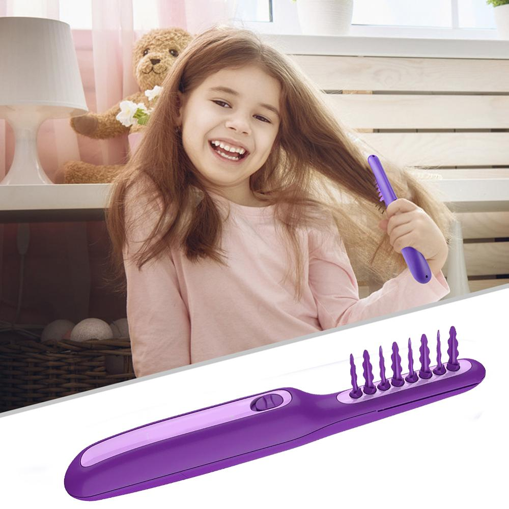 Electric Detangling Brush Scalp Massage Hair Brush Automated Tangle Teaser Easy Loosen Knots For Wet And Dry Hair Adults Kids