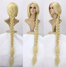 """Anime Tangled Princess 120cm 47"""" Straight Blonde Super Long Cosplay Wig Rapunzel Synthetic Hair Wigs + Wig Cap"""