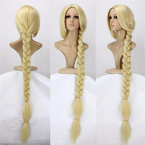 "Image 1 - Peluca de Cosplay de princesa enredada de Anime, Peluca de pelo sintético de Rapunzel superlarga de 120cm y 47"""