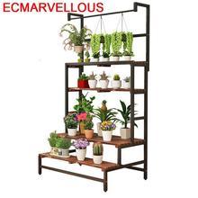Indoor Huerto Urbano Madera Estanteria Para Macetas Saksi Standi Plantenstandaard Balcony Rack Shelf Outdoor Flower Plant Stand
