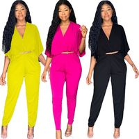ZKYZWX Batwing Sleeve rompers womens jumpsuit Clothes Fall 2019 Streetwear Fashion Nova Plus Size Sexy Party One Piece Overalls