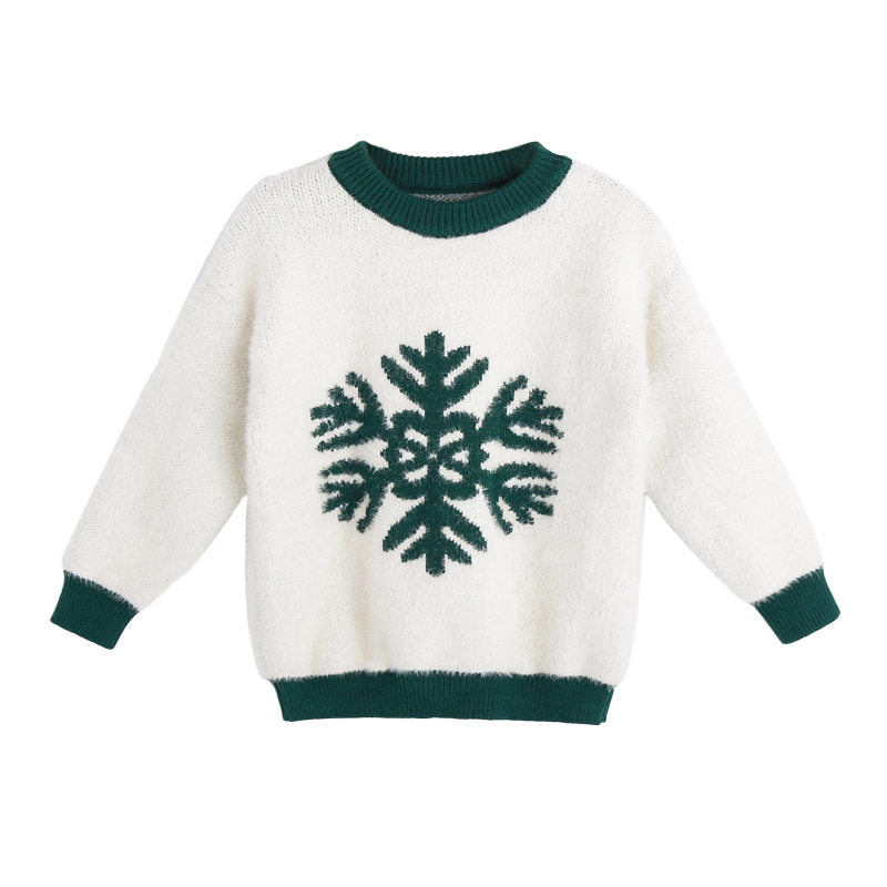 Childrens Snowflake Sweater Kids Printed Sweater